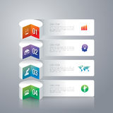 Infographics design template. Stock Images