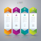Infographics design template. Abstract 3D digital illustration Infographic. Vector illustration can be used for workflow layout, diagram, number options, web Royalty Free Stock Images