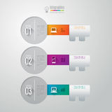 Infographics design template. Abstract 3D digital illustration Infographic. Vector illustration can be used for workflow layout, diagram, number options, web Stock Photo