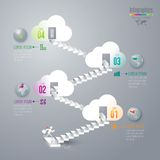 Infographics design template. Royalty Free Stock Photo
