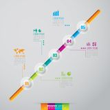 Infographics design template. Stock Image