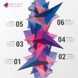 Infographics design template. Abstract triangle concept. Vector Royalty Free Stock Photos