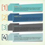 Infographics design template banner Royalty Free Stock Photo