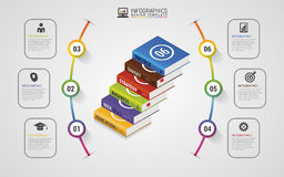 Infographics design template. Business Books. Colorful circle wi Stock Photos