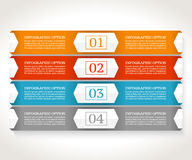Infographics design template. Business concept with four options. Royalty Free Stock Photos