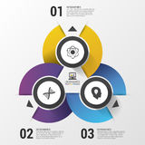 Infographics design template. Business concept. Modern vector illustration Royalty Free Stock Photos
