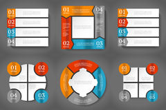 Infographics design template. Stock Photos