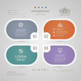 Infographics design template with business icons, process diagra Royalty Free Stock Images
