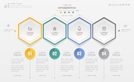 Infographics design template with business icons, process diagra. M, vector eps10 illustration Stock Images
