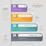 Infographics design template with business icons, process Royalty Free Stock Photo