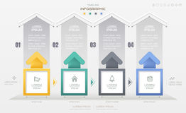 Infographics design template with business icons, process Stock Image