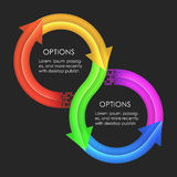 Infographics design template. Circular arrows Royalty Free Stock Photography