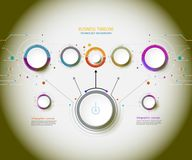 Vector infographic timeline technology with 3D paper labe Stock Photography