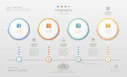 Infographics design template with icons, process diagram,  Royalty Free Stock Images