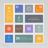 Infographics design template with icons, process diagram,  Royalty Free Stock Photos