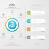 Infographics design template with icons, process diagram Royalty Free Stock Photos
