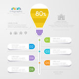 Infographics design template with icons, process diagram Royalty Free Stock Photo
