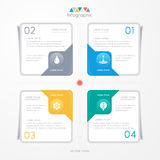 Infographics design template with icons, process diagram Royalty Free Stock Images