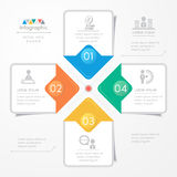 Infographics design template with icons, process diagram Royalty Free Stock Image