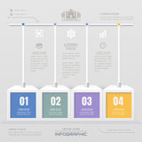 Infographics design template with icons, process diagram, vector Royalty Free Stock Photography