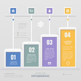 Infographics design template with icons, process diagram, vector Royalty Free Stock Photos