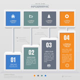 Infographics design template with icons, process diagram, vector Royalty Free Stock Images