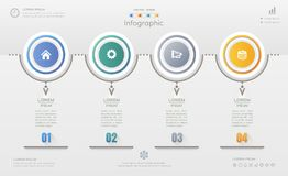 Infographics design template with icons, process diagram, vector Stock Images