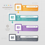 Infographics design template with icons, process, vector Stock Photo