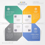 Infographics design template with icons, process, vector Royalty Free Stock Photography