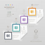 Infographics design template with icons, process, vector Royalty Free Stock Images