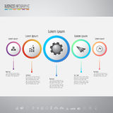 Infographics design template with icons set Royalty Free Stock Photos