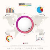 Infographics design template with icons set Stock Photos