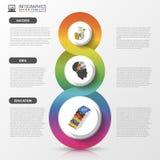 Infographics design template. Modern business concept. Vector illustration royalty free illustration