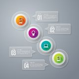 Infographics design template. Stock Image