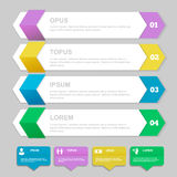 Infographics Design template.   Numbered banners Royalty Free Stock Image