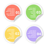 Infographics Design template.   Numbered circle Stock Images