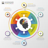 Infographics design template with 6 options. Vector illustration Royalty Free Stock Photo