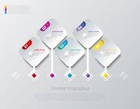 Infographics design  template. Square Rhombus Timeline Stock Photos