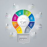 Infographics design template. Royalty Free Stock Images