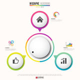 Infographics design template. Vector eps10 Stock Photography