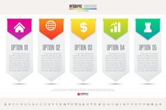 Infographics design template. Vector eps10 Royalty Free Stock Photos