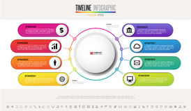 Infographics design template. Vector eps10 Stock Images