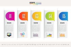 Infographics design template. Vector eps10 Royalty Free Stock Photo