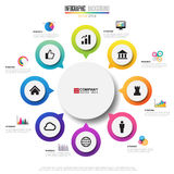 Infographics design template. Vector eps10 Stock Image