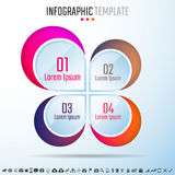 Infographics Design Template. Vector Illustration Royalty Free Stock Images