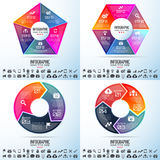 Infographics Design Template. Vector Illustration Royalty Free Stock Photo