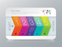 Infographics design vector and business icons. Royalty Free Stock Image