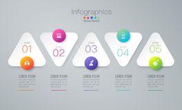 Infographics design vector and business icons with 5 options. Royalty Free Illustration