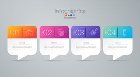Infographics design vector and business icons with 4 options. Infographics design vector and marketing icons can be used for workflow layout, diagram, annual vector illustration