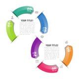 Infographics designmall Royaltyfri Fotografi